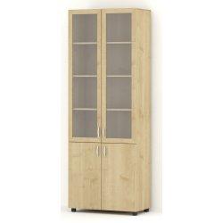 Стеллаж 2 двери 2 витрины 800 (Н2196) ЛИДЕР