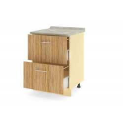 Стол 2 ящика (метабоксы) 600 ЛИРА SALE (2532-20)