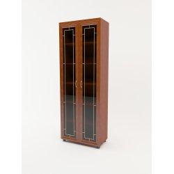 Шкаф распашной 2 двери витрина ПРЕМЬЕР 800